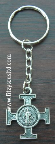 Maltese Cross Keyring Holy Religious Malta Amalfi Iron Cross Key Ring Gift